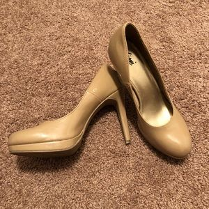 Shoes - Nude Patent Leather Heel